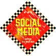 vintage social media sign, grungy, vector