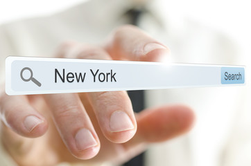 New York written in search bar
