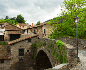 old bridge in Potes, Spain.