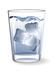 Glass water ice