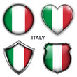 Italy flag icons, vector buttons.