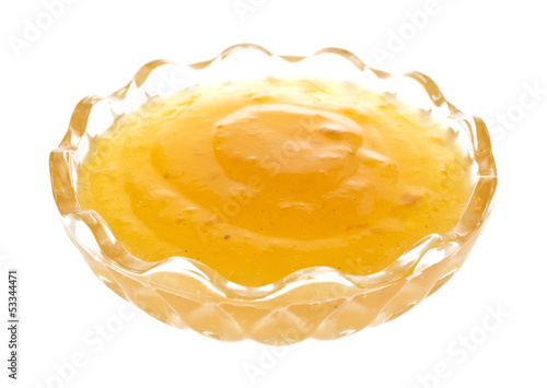 Duck sauce in glass bowl