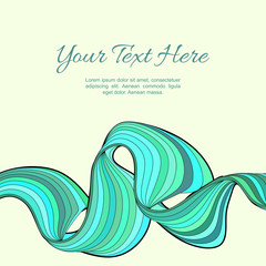 Modern striped background with text. Vector illustration