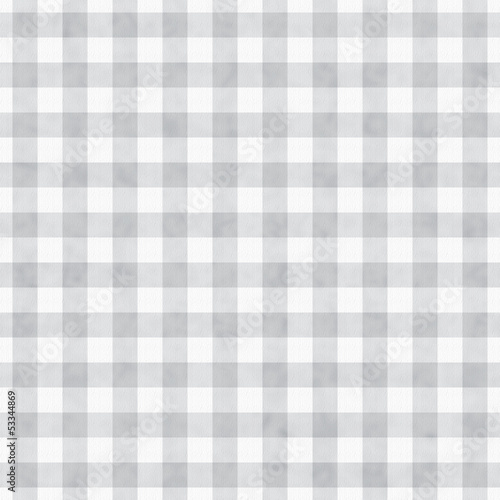 Gray Gingham Fabric Background