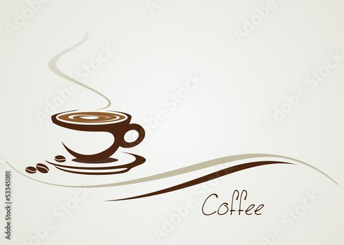hot coffee , cafeteria , icon, business logo design
