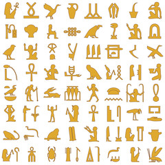 Egyptian hieroglyphs Decorative Set 1