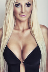 blonde girl with big breasts