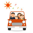 家族でドライブ(出発)