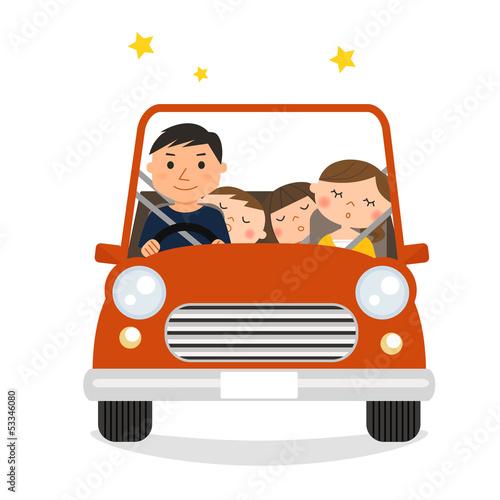 家族でドライブ(帰宅)