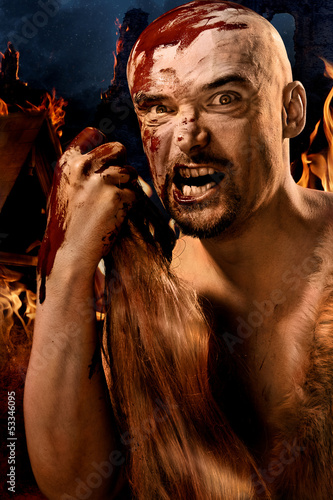 Poster Angry barbarian