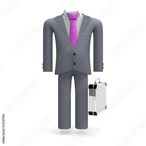 StandingBusinessSuitFrontView