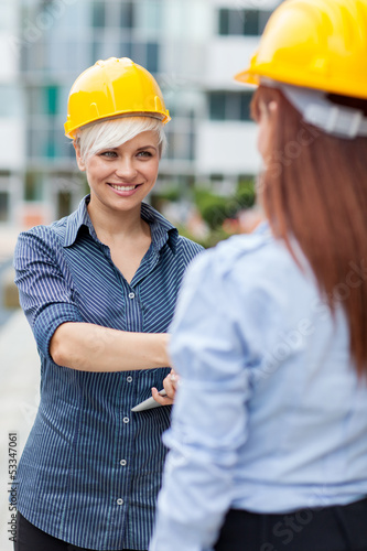 Two Constructors meet and shaking hands