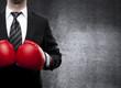 Leinwanddruck Bild - man in boxing gloves