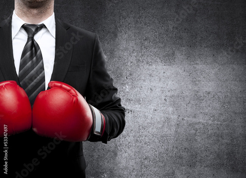 Foto op Canvas Vechtsport man in boxing gloves