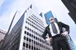 businessman and skyscraper