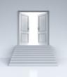 opened doors