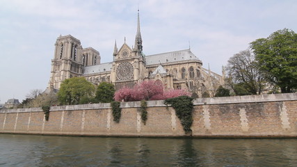 Notre Dame Cathedral and the Seine.