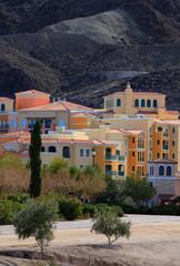Colorful buildings near Lake LasVegas