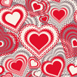 Seamless pattern with hearts. Vector colorful background.