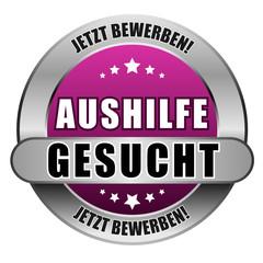 5 Star Button pink AUSHILFE GESUCHT JB JB