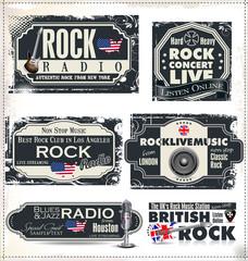Rock music radio station labels