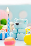 teddy with candle and candy