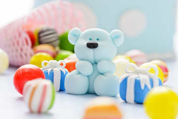 teddy with candy