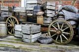 Nostalgia - Farm wagon loaded with old stuff poster