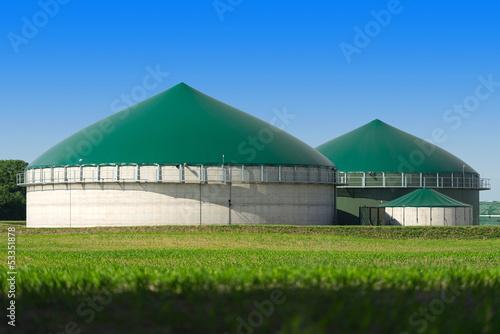 Leinwandbild Motiv Biogasanlage 2871