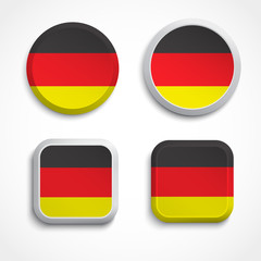 Germany flag buttons