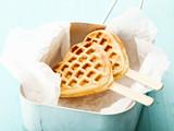 Heart-shaped waffle popsicle