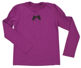 Polka-dot pink shirt. Isolated on a white background.