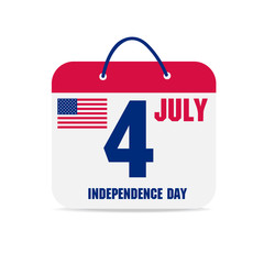 july 4 calendar, independence day american calendar design