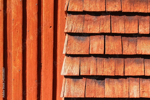 Natural red wood texture