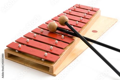Leinwanddruck Bild Glockenspiel - Musikalische Früherziehung