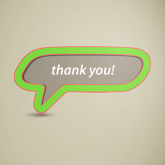 Vector Illustration of a Thank You Speech Bubble