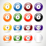 Vector Illustration of Billiard Balls