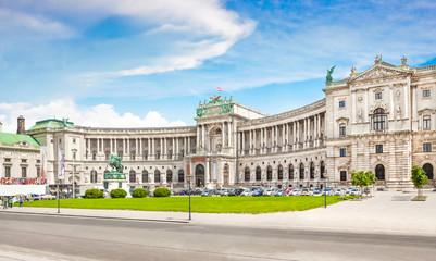 Hofburg Palace with Heldenplatz in Vienna, Austria