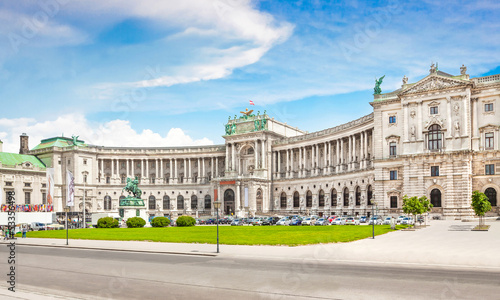 Hofburg Palace with Heldenplatz in Vienna, Austria