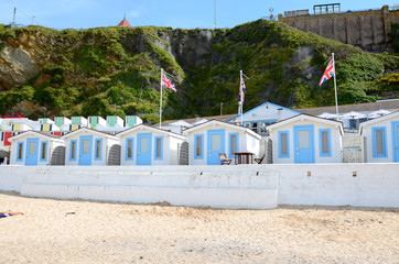 Beach huts, Tolcarne, Newquay