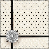 Vintage lace polka dots vector ornament card