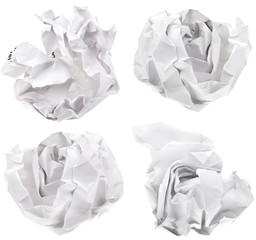 ball of white paper