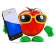 Tomato likes his new smartphone