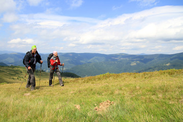 Summer hiking the Carpathians.