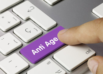 Anti age Keyboard key finger
