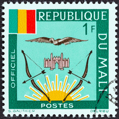Mali Flag and Emblems (Mali 1964)