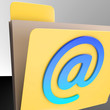 Email Folder Shows Online Mailing Inbox File
