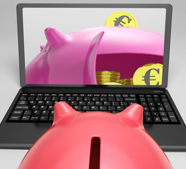 Piggy Vault With Coins Shows Banking Insurance