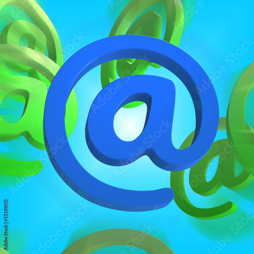 At Sign Shows E-mail Symbol Send Mail