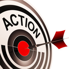 Action Means Acting Or Proactive